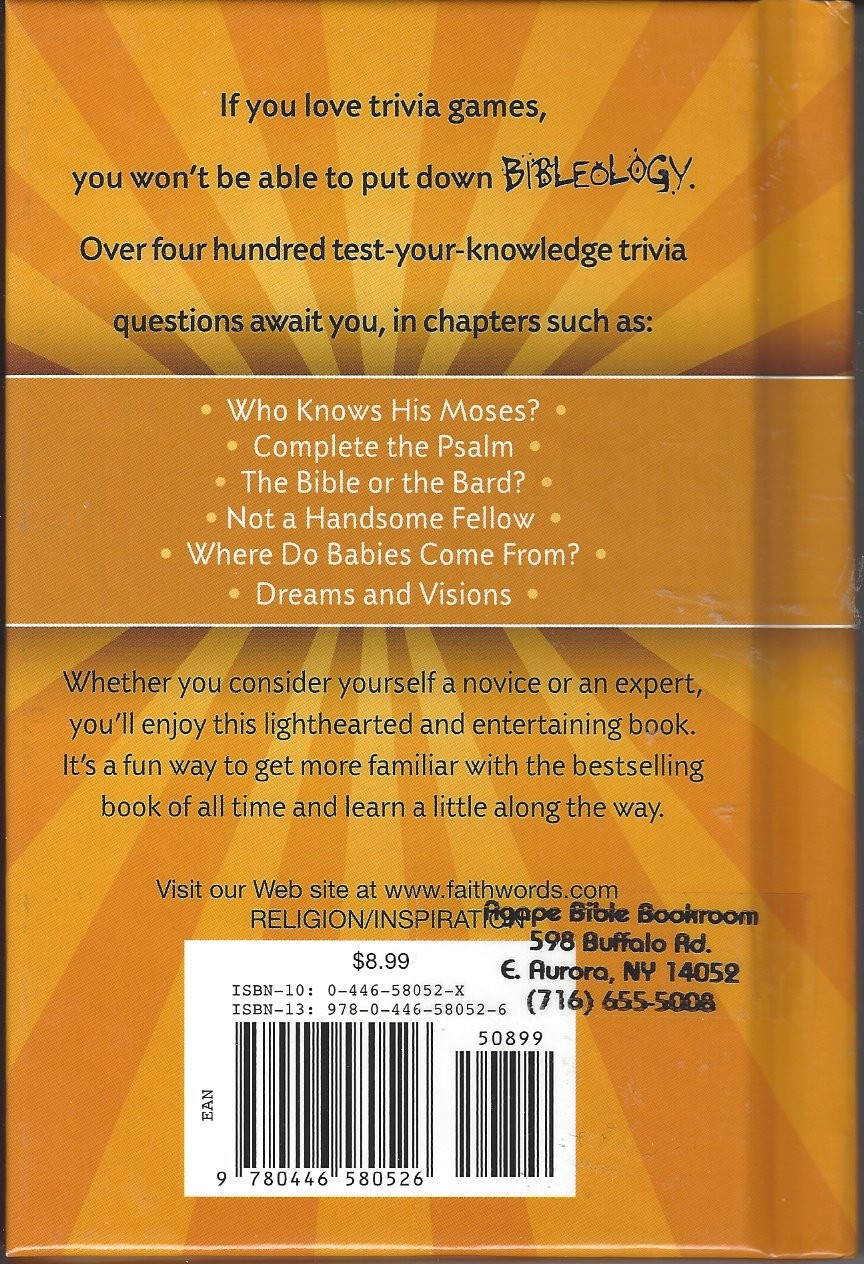 Bibleology the little book of bible trivia 2007 agape bible more views solutioingenieria Image collections