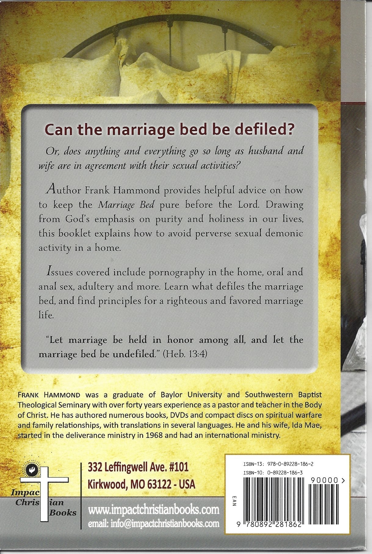 The Marriage Bed - Can the Marriage Bed Be Defiled - Agape
